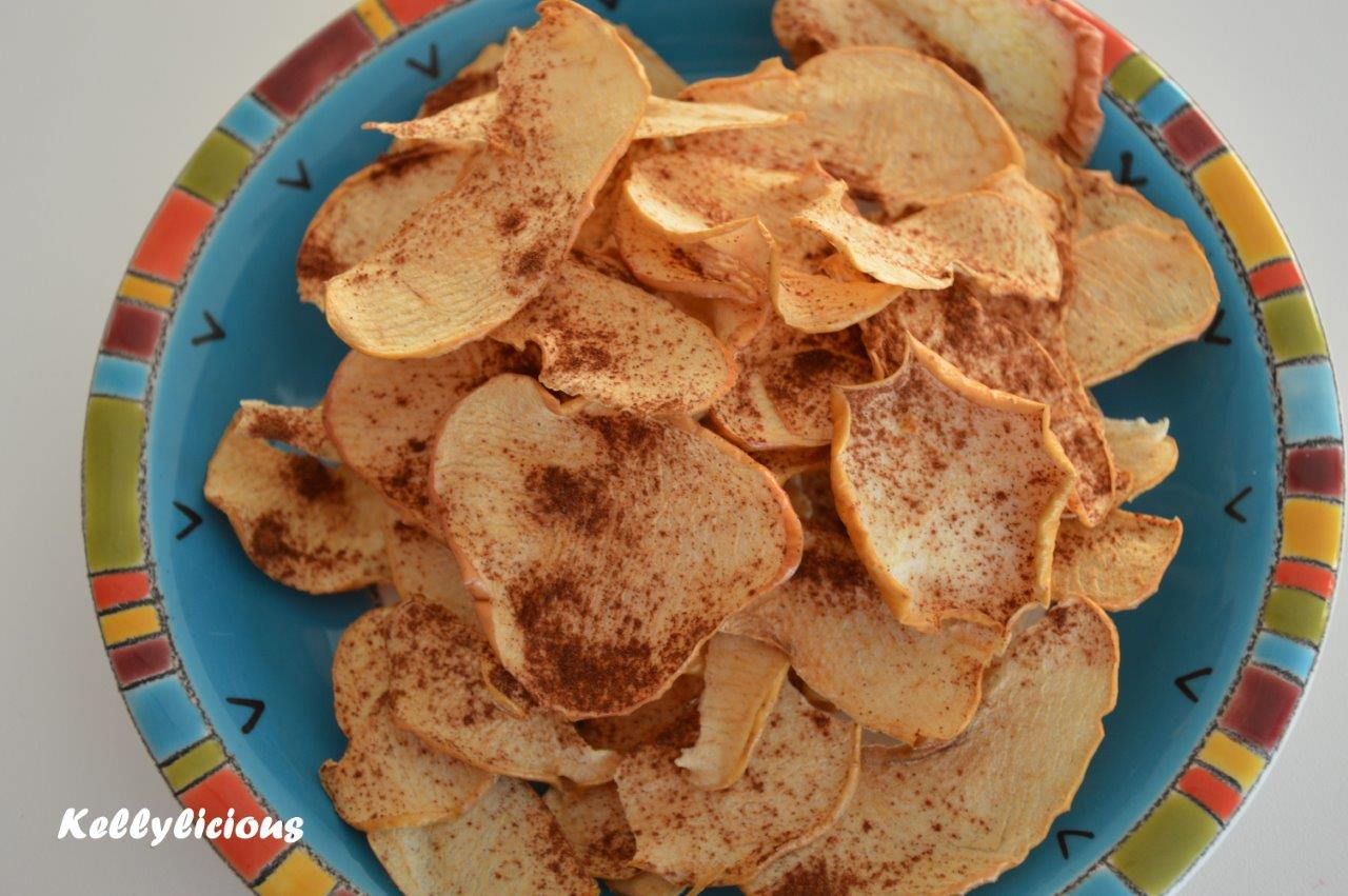 Photo of Appelchips met kaneel