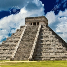9842842-Chichen-Itza-the-main-pyramid-El-Castillo-Located-in-the-Yucatan-Peninsula-of-Mexico-Stock-Photo