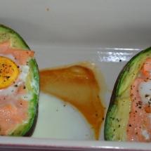 avocado zalm ei oven