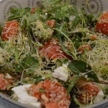 groene bladgroenten salade met hennepzaad
