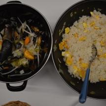 mosselen met rijst