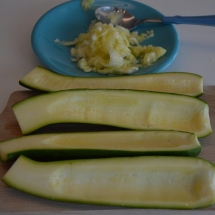 courgettes uithollen