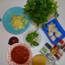 ingrediënten om courgettebootjes te maken
