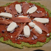havermout spinazie pizza