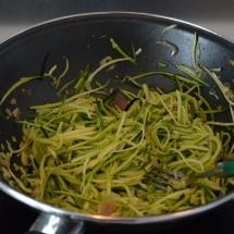spaghetti courgetti zalm