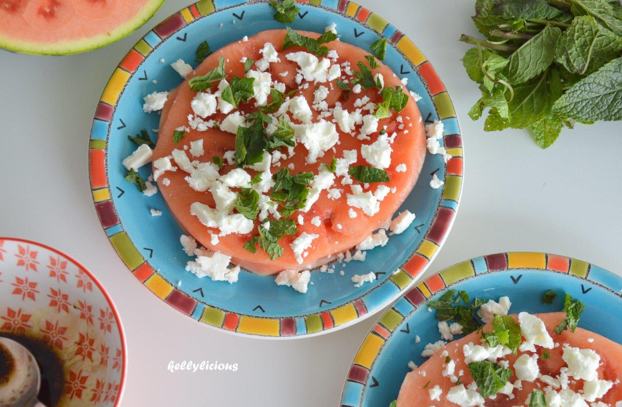 Photo of Watermeloentaart met feta