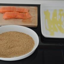 gebakken zalm met sesamkorst