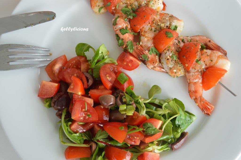 Photo of Garnalen met zomerse salade