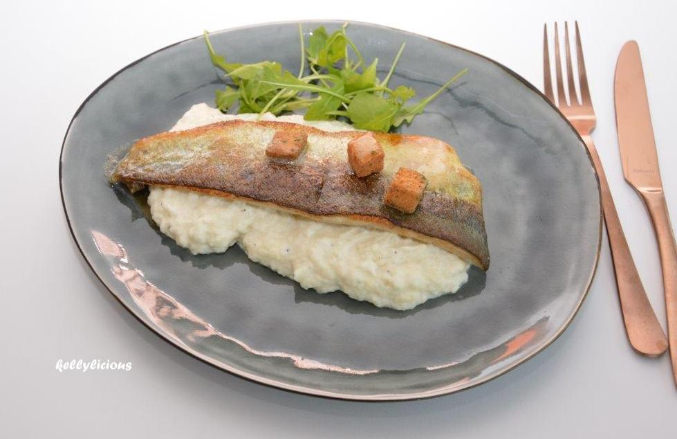 Photo of Forel met bloemkoolpuree
