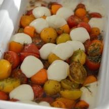 hapje tomaat mozarella oven