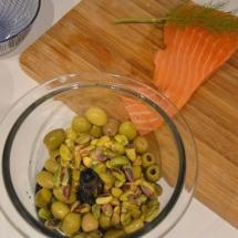 zalm met pistache