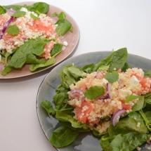 parelcouscous met citrusvrucht en spinazie