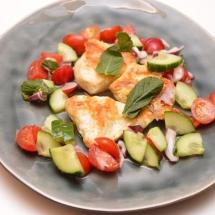 gegrilde kip met radijssalade