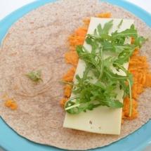 quesadilla met zoete aardappel