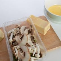 zachte polenta met champignons