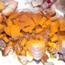 taartje koolrabi met pompoen