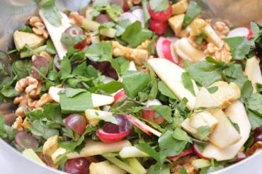 waldorfsalade met kip