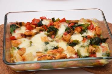 ovenschotel kip mozzarella en groentjes