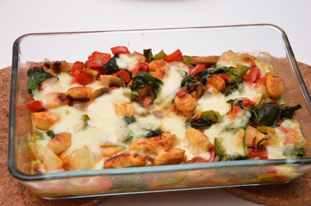 Photo of Ovenschotel met kip, groentjes en mozzarella